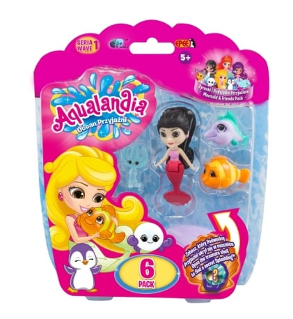 Aqualandia – Ocean Przyjaźni – 6pack z Syrenką, 8 ass.