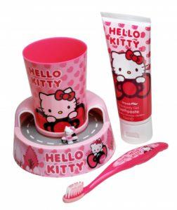 Hello Kitty – Zestaw do higieny jamy ustnej z timerem