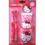 Hello Kitty – Zestaw 2 szczoteczek, kubek, pasta 75 ml - kgr81031_1_x-2 - miniaturka