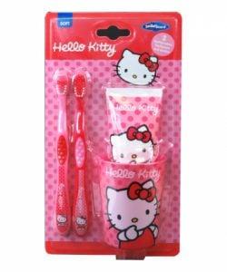 Hello Kitty – Zestaw 2 szczoteczek, kubek, pasta 75 ml