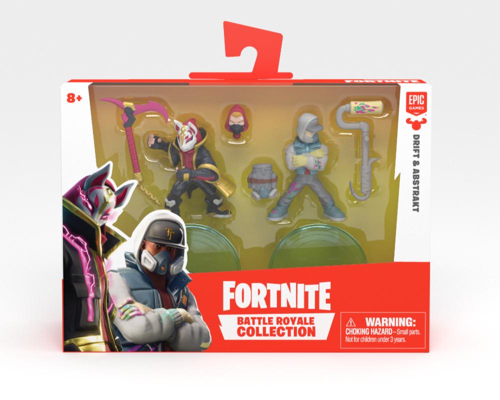 Fortnite – 2-pack figurek z akcesoriami, 14 ass. - mfn63507-fortnite-2pack-abstrakt-drift-w-opak