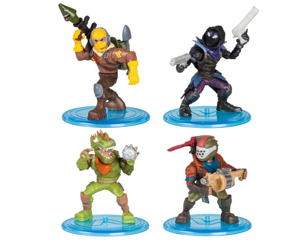 Fortnite – Legendarny Squad, 4-pack figurek z akcesoriami - mfn63508-fortnite-legendarny-squad-raptor-rust-lord-rex-raven-bez-opak