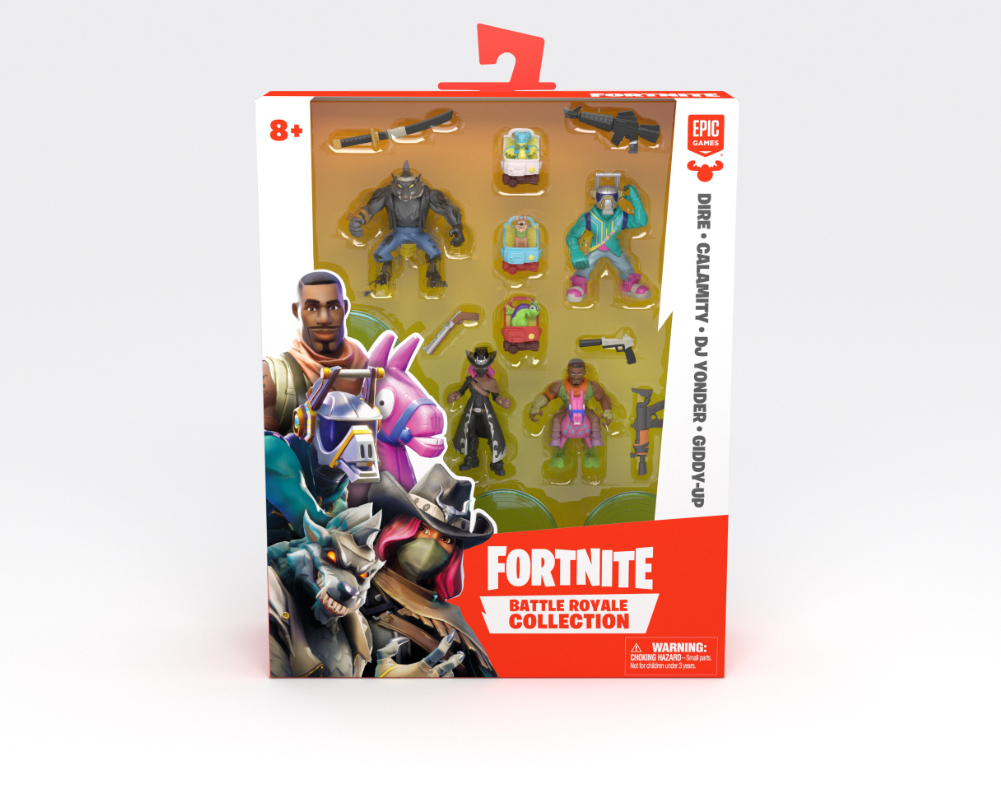 Fortnite – Legendarny Squad, 4-pack figurek z akcesoriami - mfn63508-fortnite-legendary-squad-dire-calamity-djyonder-giddy-up-w-opak