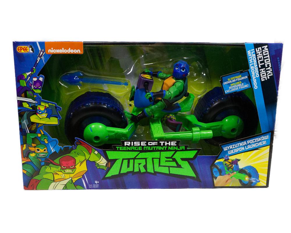 Wojownicze Żółwie Ninja: Ewolucja – Motocykl z figurką, 2 ass. - pzn82480-wojownicze-zolwie-ninja-motocykl-z-figurka-leonardo-w-opak