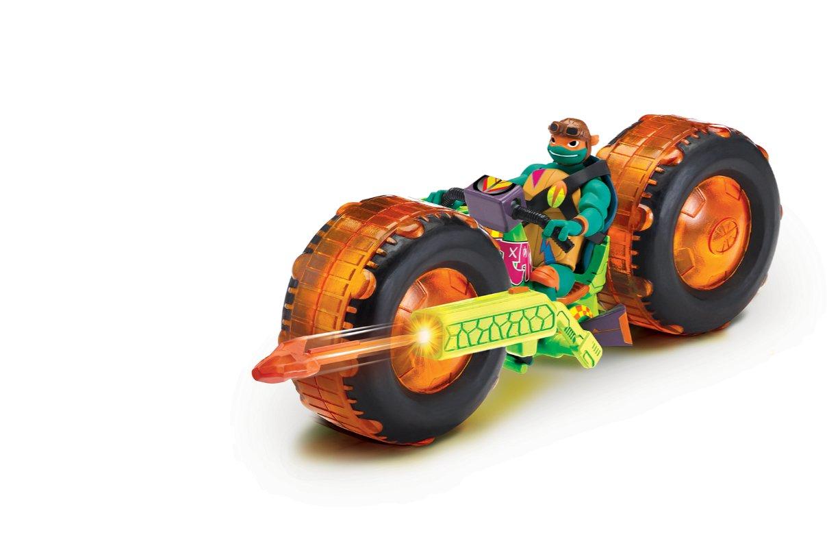 Wojownicze Żółwie Ninja: Ewolucja – Motocykl z figurką, 2 ass. - wojownicze-zolwie-ninja-motocykl-z-figurka-michaelangelo