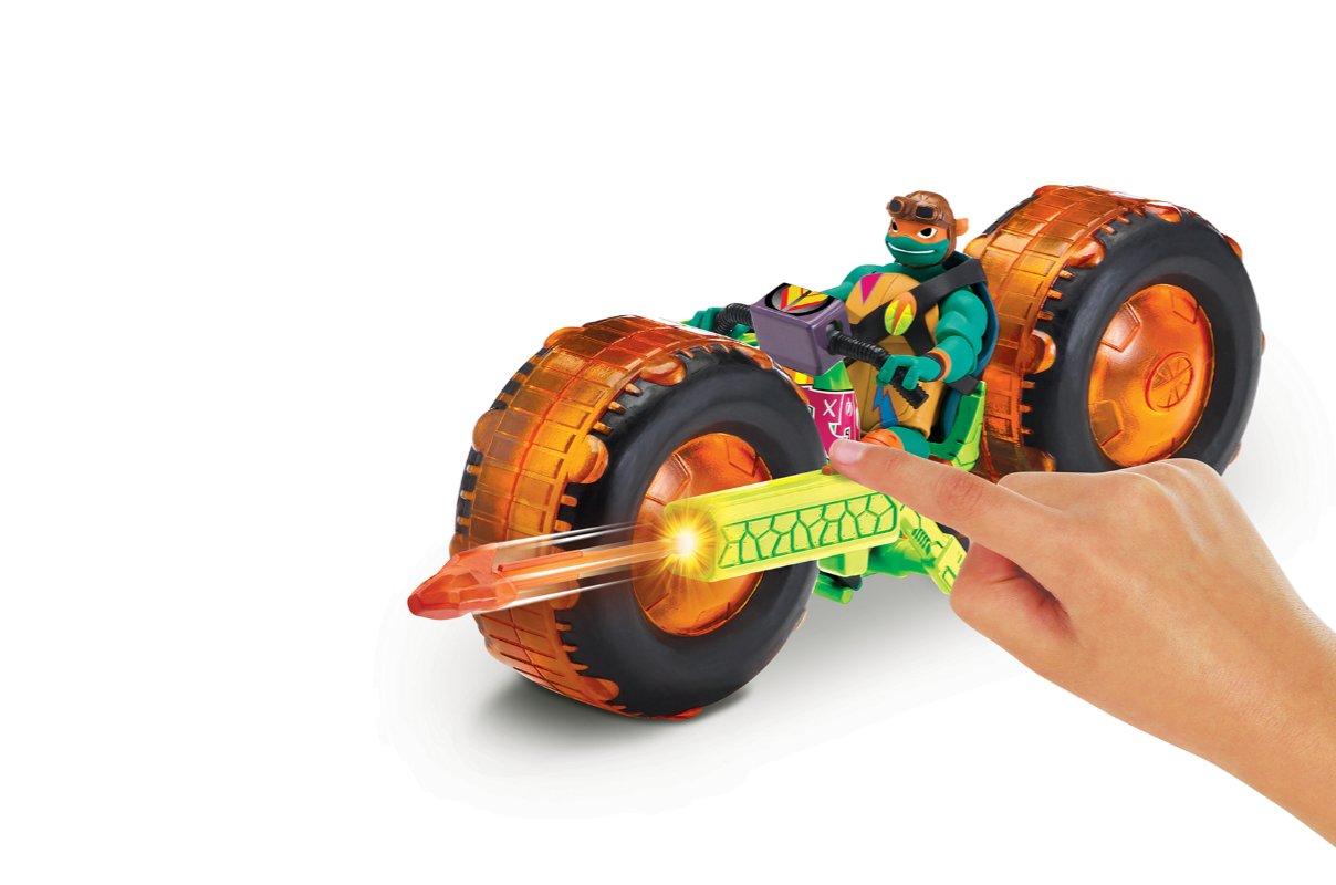 Wojownicze Żółwie Ninja: Ewolucja – Motocykl z figurką, 2 ass. - wojownicze-zolwie-ninja-motocykl-z-figurka-zabawa-michelangelo-2