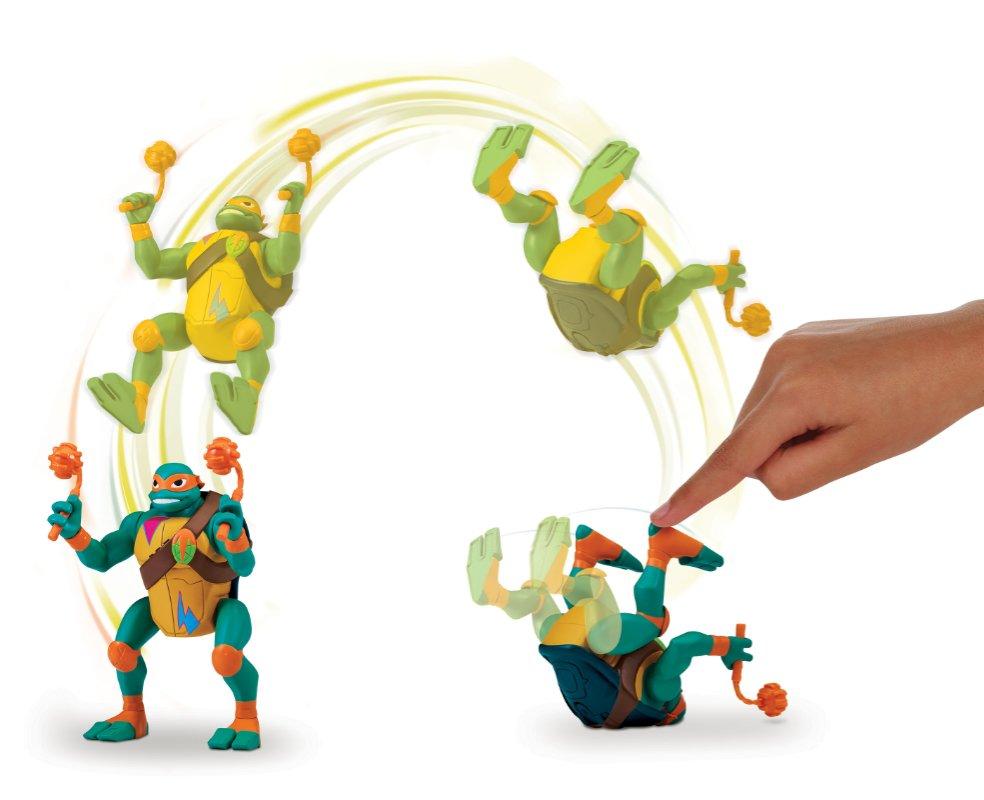 Wojownicze Żółwie Ninja: Ewolucja – Figurka akcyjna - figurka-akcyjna-15cm-z-dzwiekie-michaelangelo-atak
