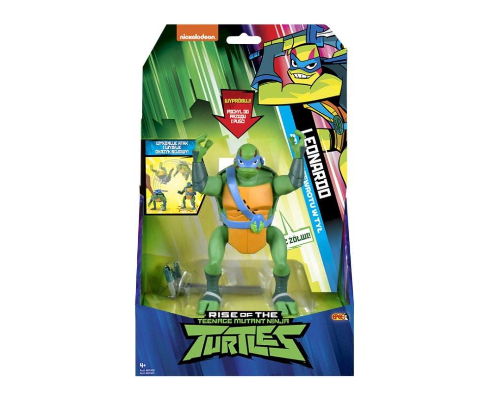 Wojownicze Żółwie Ninja: Ewolucja – Figurka akcyjna - figurka-akcyjna-15cm-z-dzwiekiem-leonardo-opakowanie