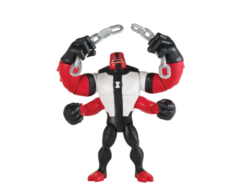 Ben 10 – Figurka podstawowa z akcesoriami 13 cm W7, 14 ass. - ben39610-ben10-figurka-podstawowa-czteroreki