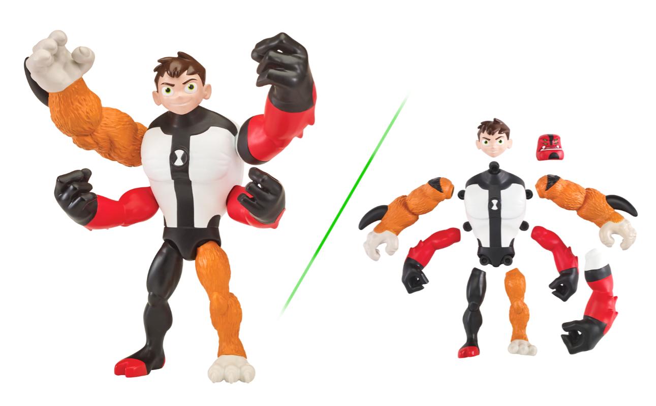 Ben 10 – Figurka podstawowa z akcesoriami 13 cm W8, 5 ass. - pbt76100-ben10-figurka-podstawowa-mix-n-match-ben-czteroreki-gniew
