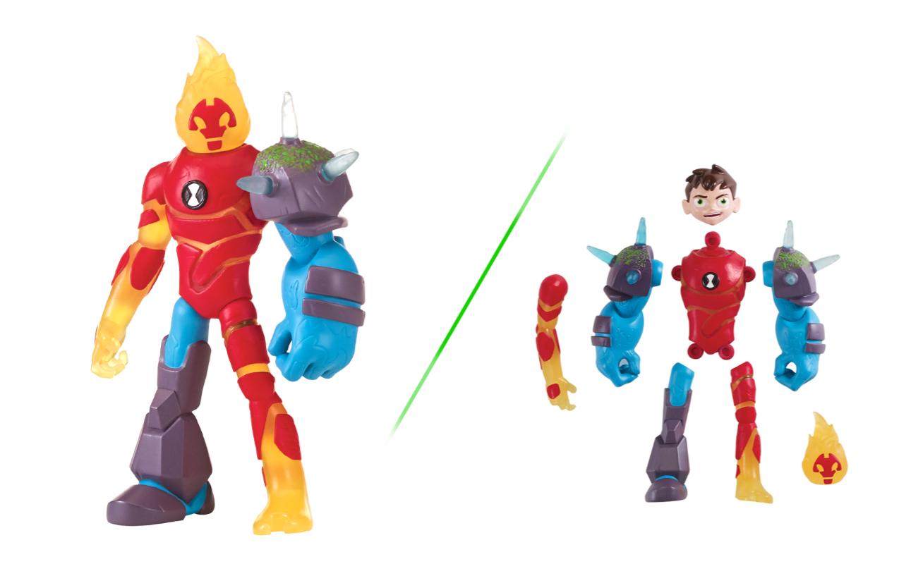 Ben 10 – Figurka podstawowa z akcesoriami 13 cm W8, 5 ass. - pbt76100-ben10-figurka-podstawowa-mix-n-match-ben-inferno-skalniak