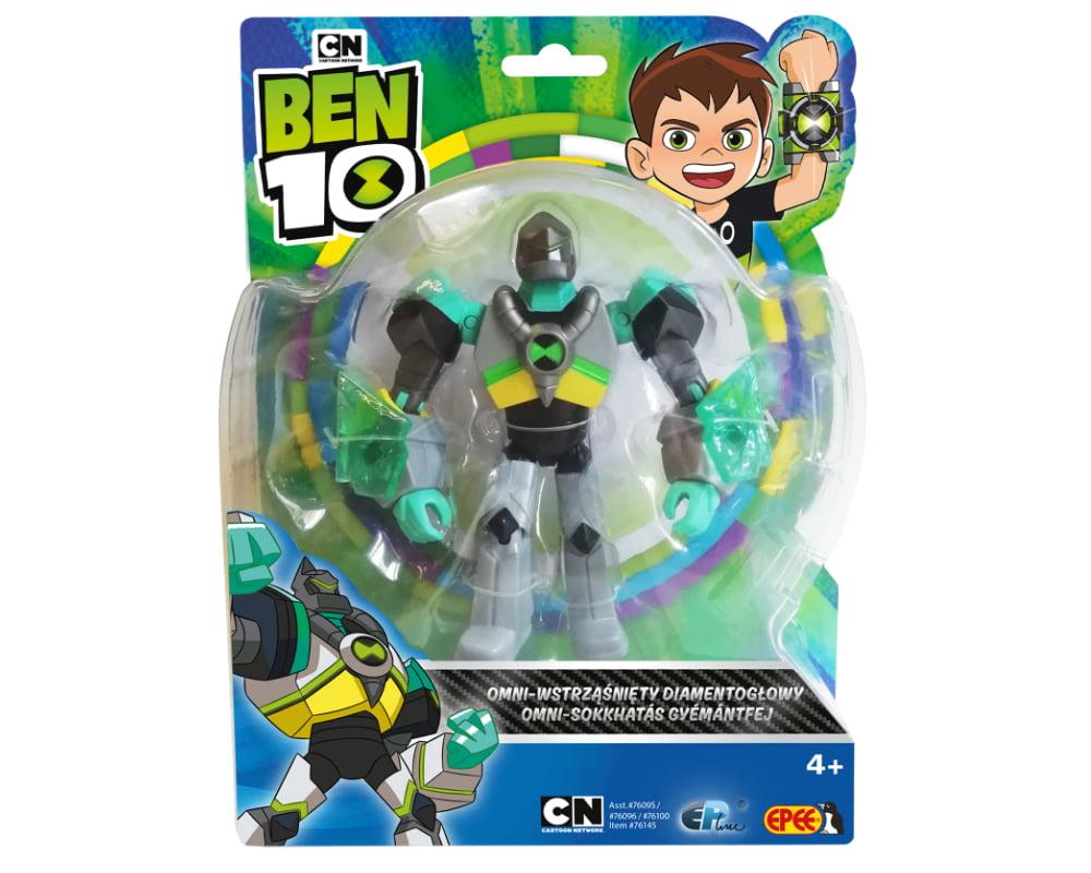 Ben 10 – figurka podstawowa z akcesoriami 13 cm W8, 7 ass. - ben10-figurka-podstawowa-omni-wstrzasniety-diamentoglowy-pbt76100