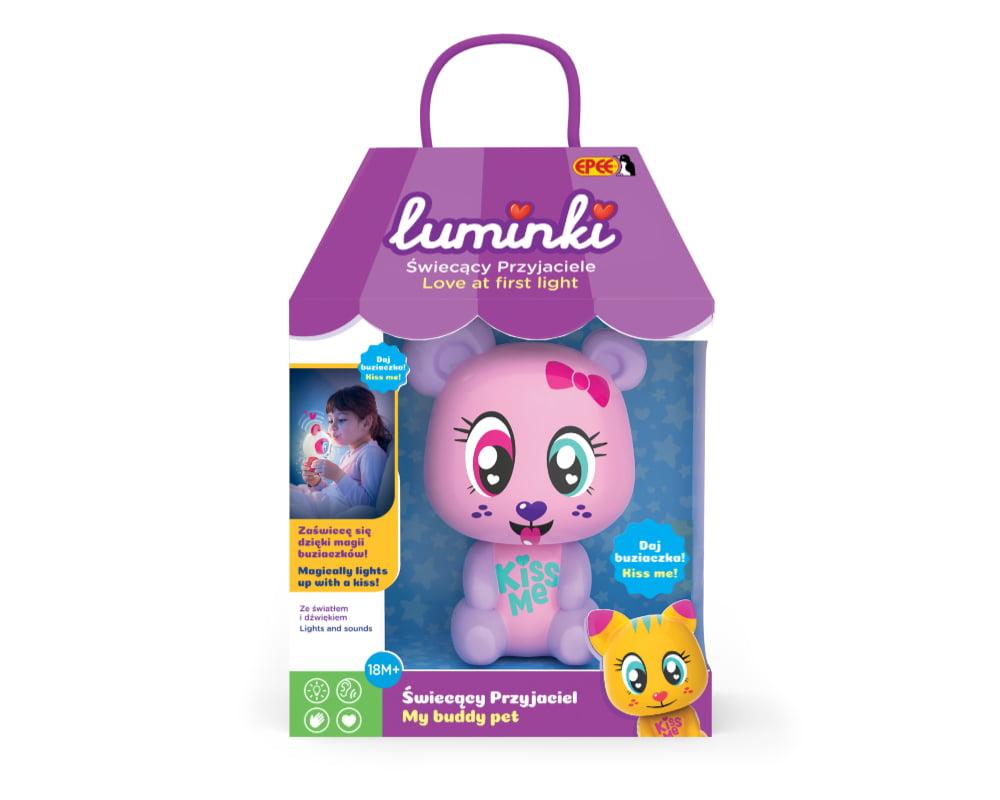 Luminki – Świecący Przyjaciele – 1-pack, 6 ass. - luminki-swiecacy-przyjaciele-opak-misia-ep03855