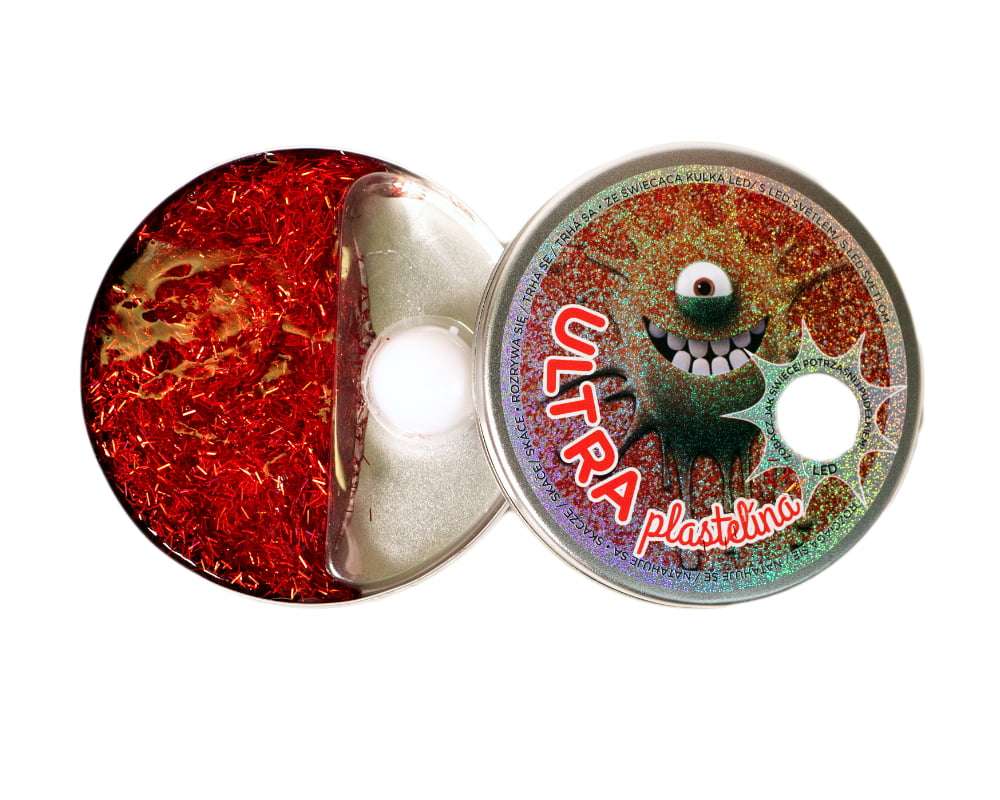 Ultraplastelina ze świecącą kulką LED - ultra-plastelina-led-czerwona-ep03994