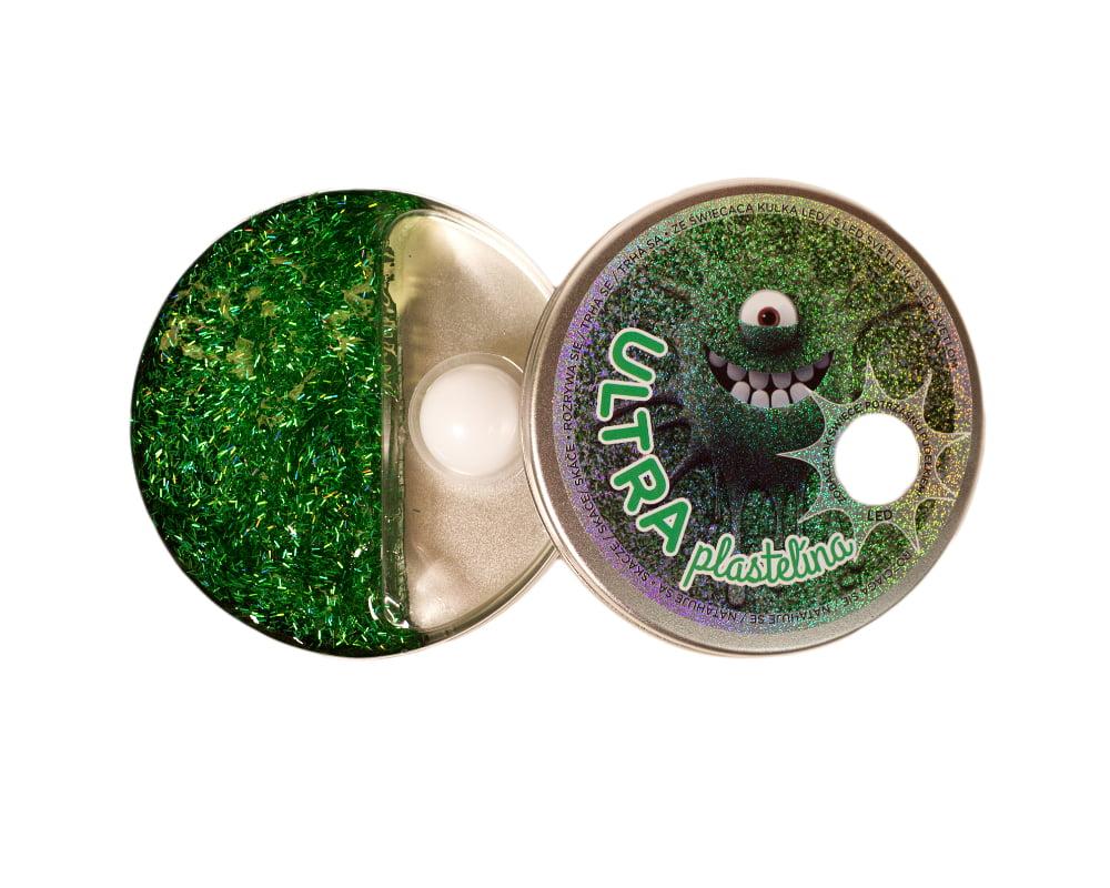 Ultraplastelina ze świecącą kulką LED - ultra-plastelina-led-zielona-ep03994