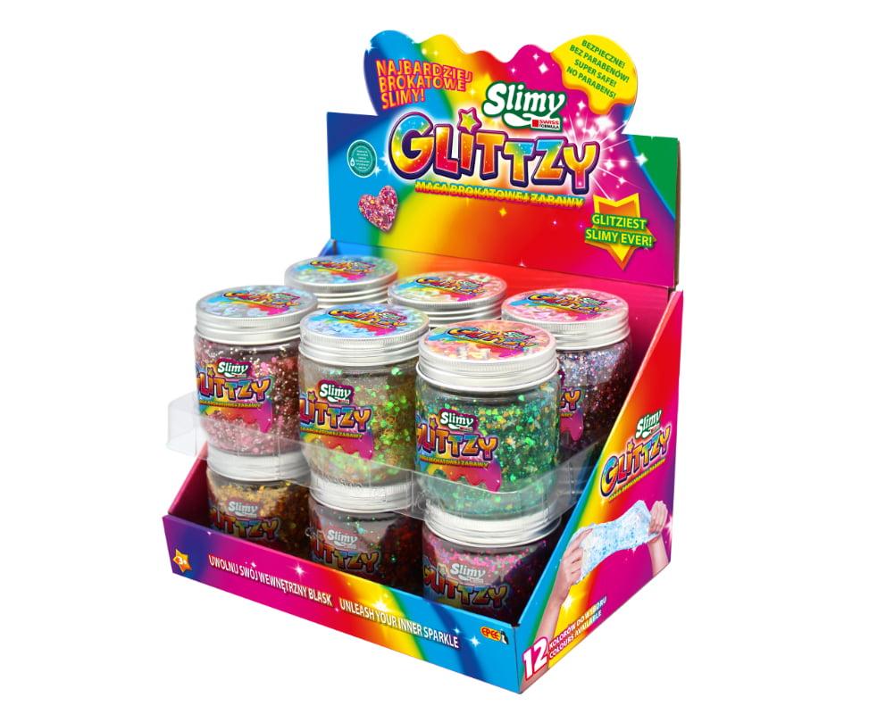 Slimy Glittzy – Masa Brokatowej Zabawy, słoik 240 g - ep03853-slimy-glittzy-sloik-cdu