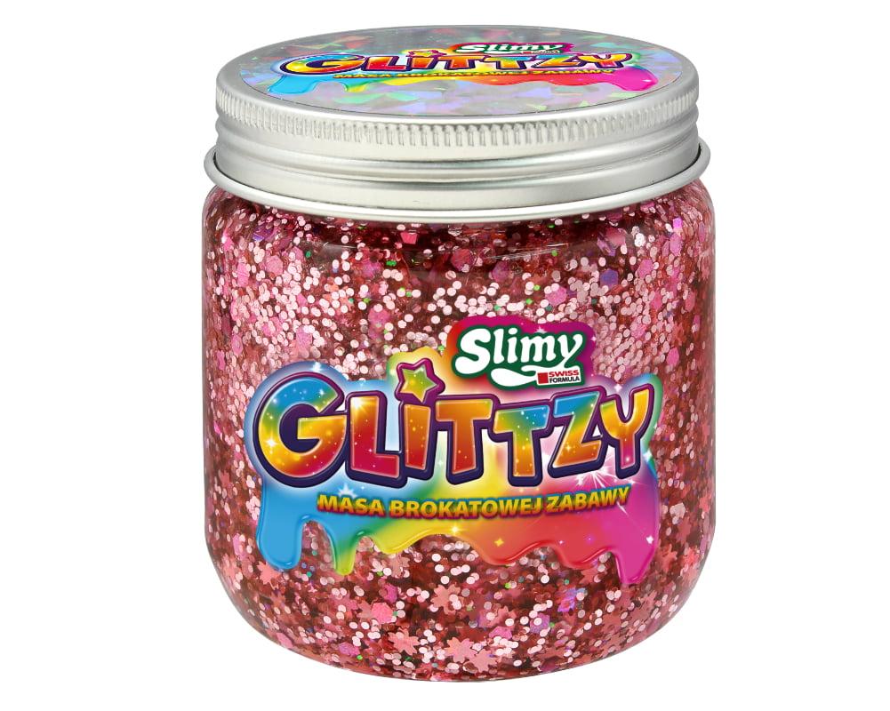 Slimy Glittzy – Masa Brokatowej Zabawy, słoik 240 g - ep03853-slimy-glittzy-sloik-blossom