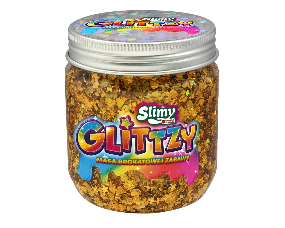 Slimy Glittzy – Masa Brokatowej Zabawy, słoik 240 g - ep03853-slimy-glittzy-sloik-courage
