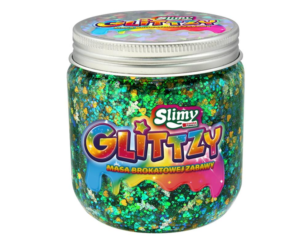 Slimy Glittzy – Masa Brokatowej Zabawy, słoik 240 g - ep03853-slimy-glittzy-sloik-forrest