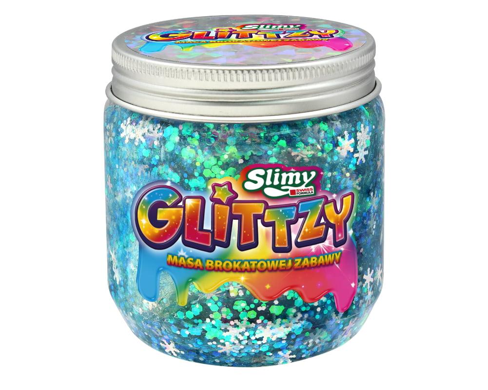 Slimy Glittzy – Masa Brokatowej Zabawy, słoik 240 g - ep03853-slimy-glittzy-sloik-frozen