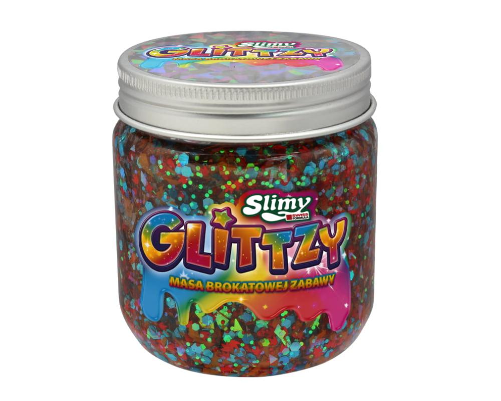 Slimy Glittzy – Masa Brokatowej Zabawy, słoik 240 g - ep03853-slimy-glittzy-sloik-happiness
