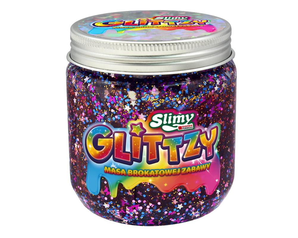 Slimy Glittzy – Masa Brokatowej Zabawy, słoik 240 g - ep03853-slimy-glittzy-sloik-nova