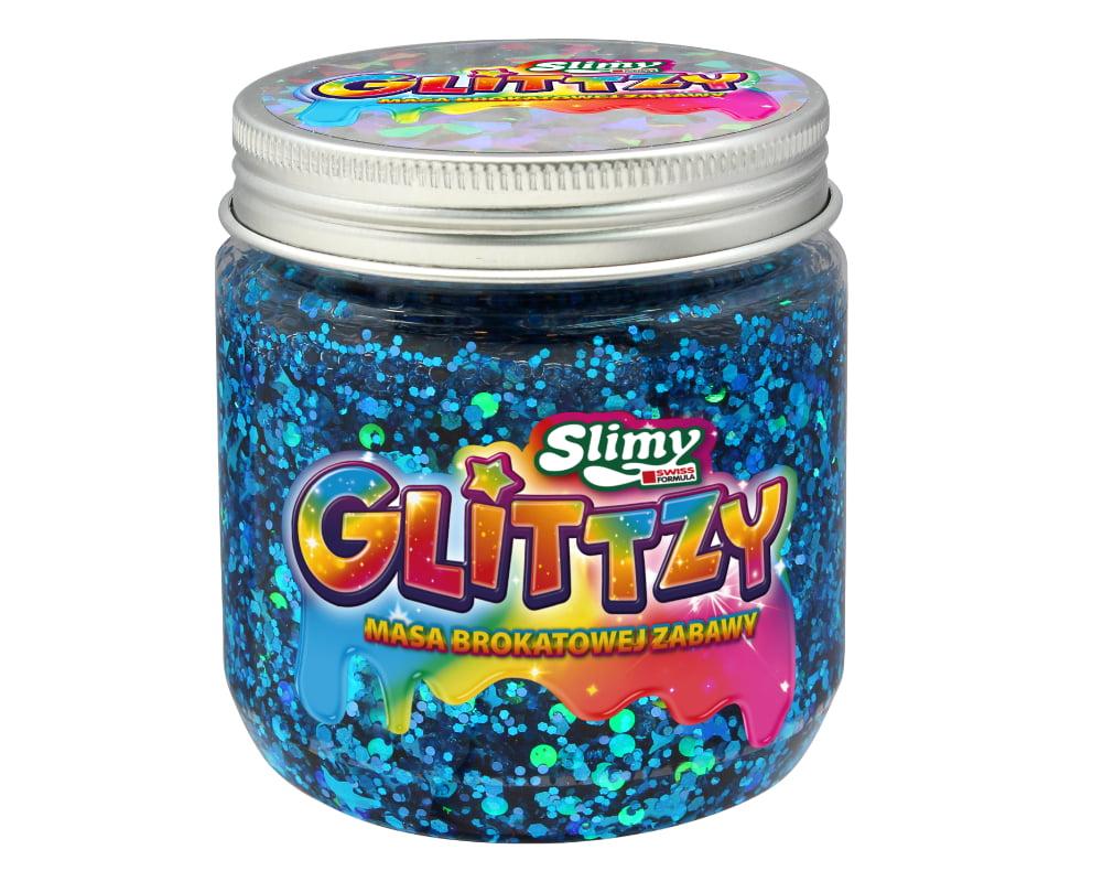 Slimy Glittzy – Masa Brokatowej Zabawy, słoik 240 g - ep03853-slimy-glittzy-sloik-peace