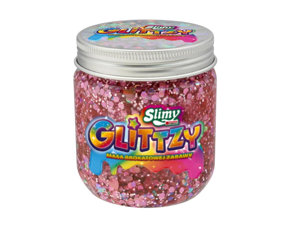 Slimy Glittzy – Masa Brokatowej Zabawy, słoik 240 g - ep03853-slimy-glittzy-sloik-romance