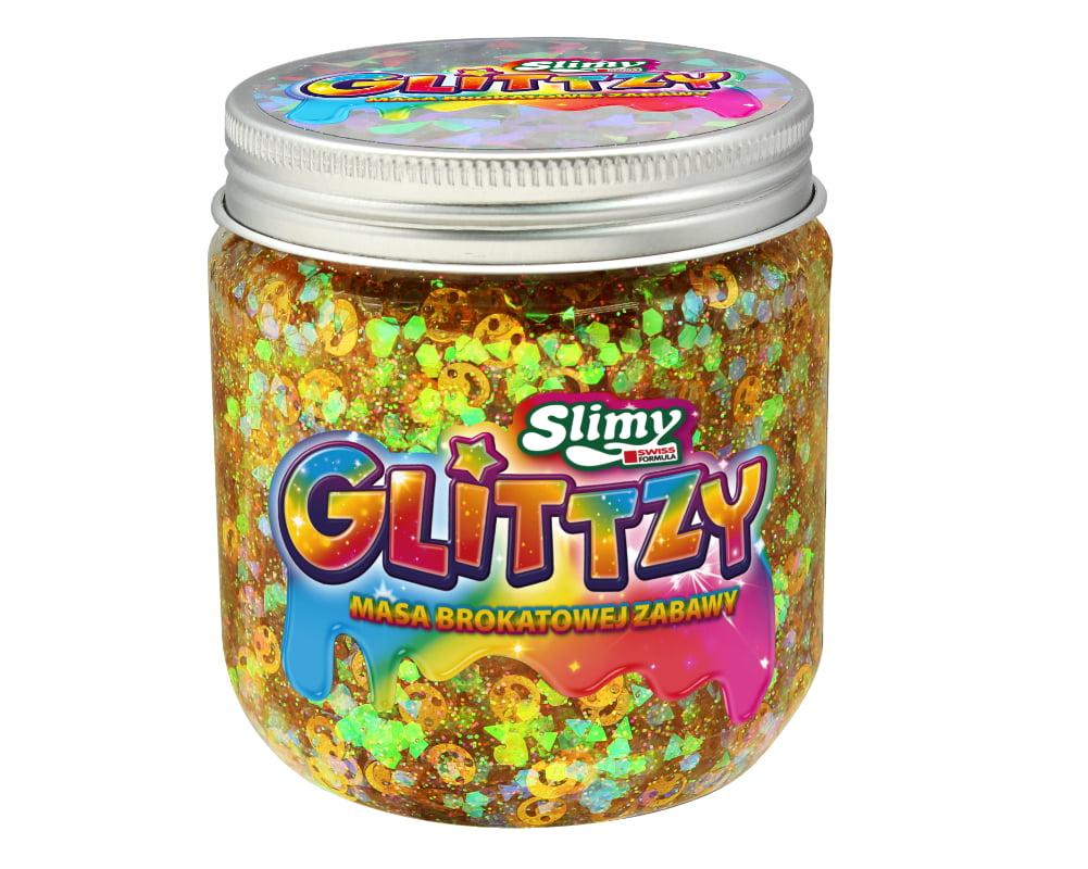 Slimy Glittzy – Masa Brokatowej Zabawy, słoik 240 g - ep03853-slimy-glittzy-sloik-shine