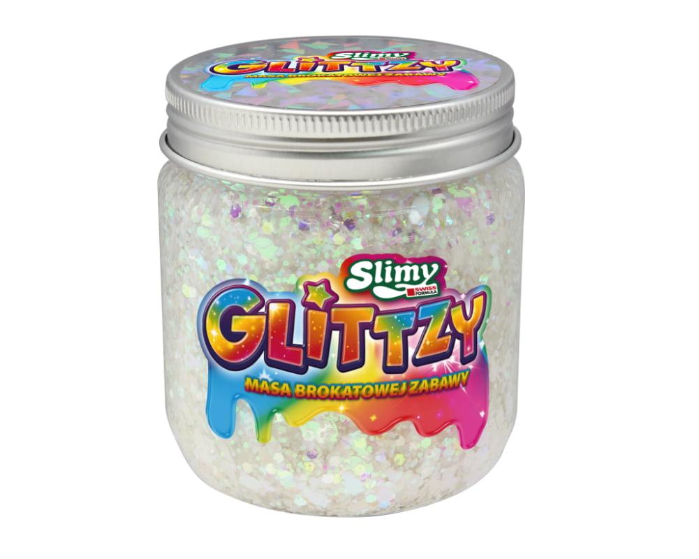 Slimy Glittzy – Masa Brokatowej Zabawy, słoik 240 g - ep03853-slimy-glittzy-sloik-snowy