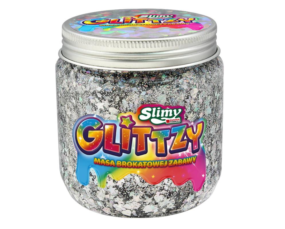 Slimy Glittzy – Masa Brokatowej Zabawy, słoik 240 g - ep03853-slimy-glittzy-sloik-wisdom
