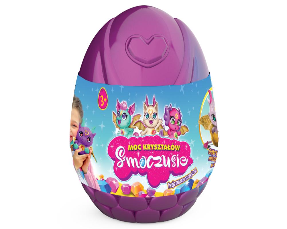 Smoczusie – Moc Kryształów – Plusz w jajku 16 cm, 6 ass. - ep04110-smoczusie-jajo-fioletowe