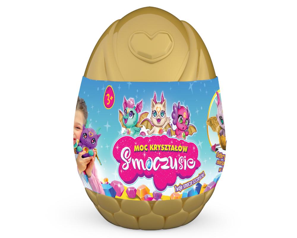 Smoczusie – Moc Kryształów – Plusz w jajku 16 cm, 6 ass. - ep04110-smoczusie-jajo-zlote