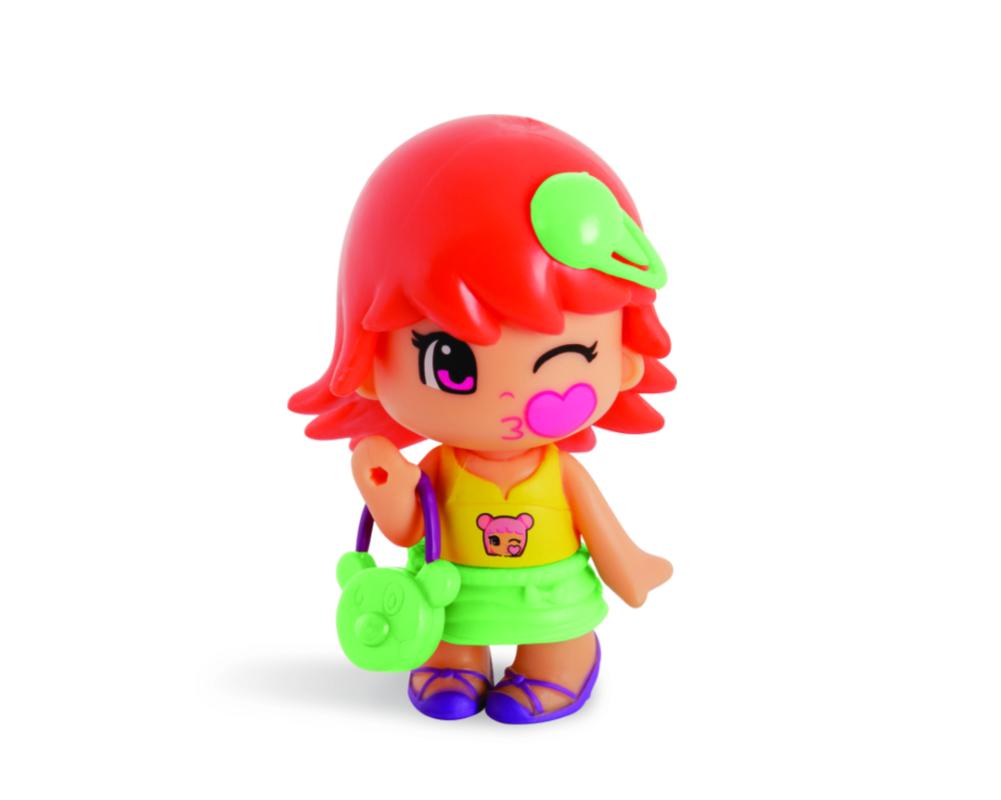 Pinypon City – Laleczka Emoji 7 cm z akcesoriami, 4 ass. - fpp14721-pinypon-laleczka7cm-emoji-bez-opak-czerwone-wlosy