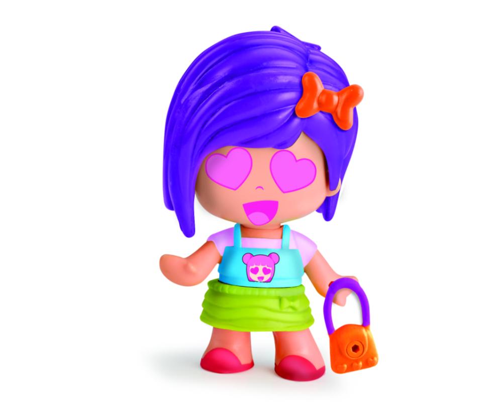 Pinypon City – Laleczka Emoji 7 cm z akcesoriami, 4 ass. - fpp14721-pinypon-laleczka7cm-emoji-bez-opak-fioletowe-wlosy