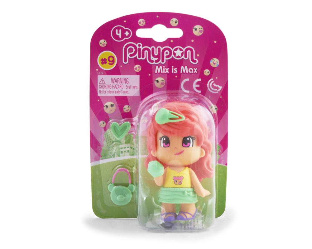 Pinypon City – Laleczka Emoji 7 cm z akcesoriami, 4 ass. - fpp14721-pinypon-laleczka7cm-emoji-w-opak-czerwone-wlosy