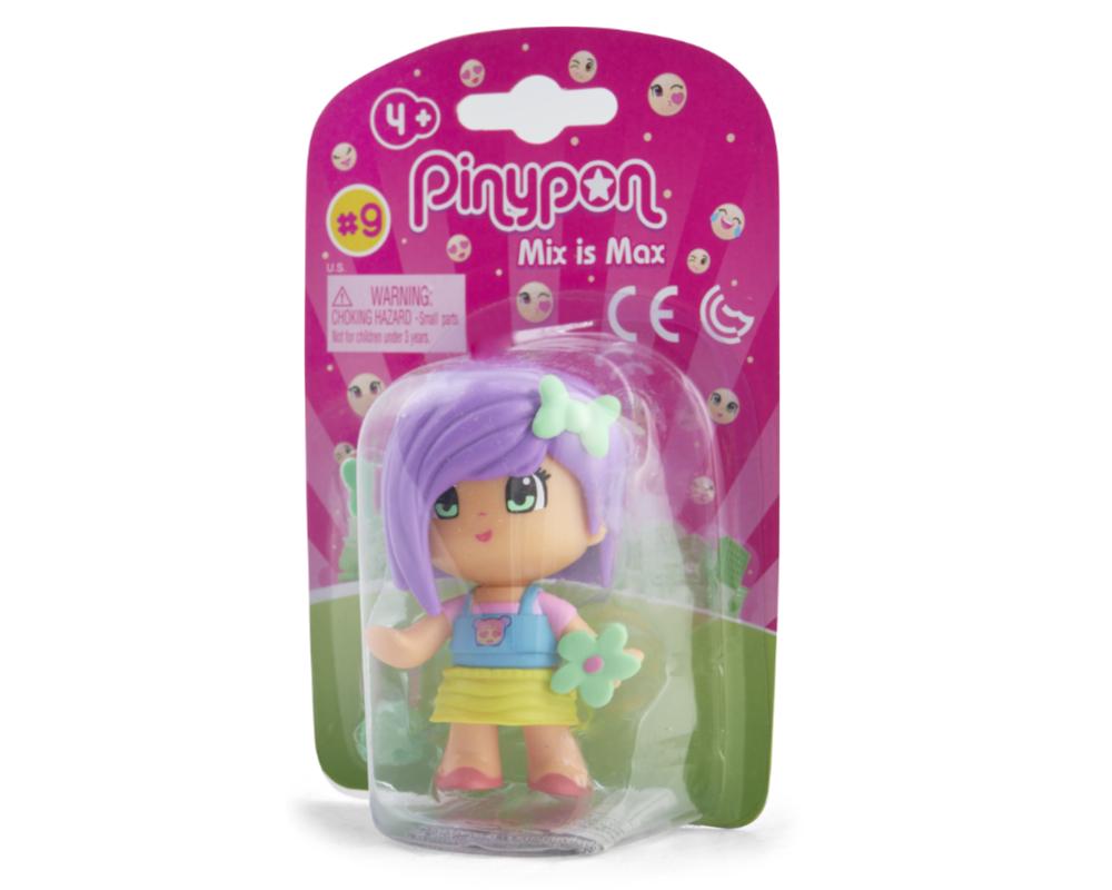 Pinypon City – Laleczka Emoji 7 cm z akcesoriami, 4 ass. - fpp14721-pinypon-laleczka7cm-emoji-w-opak-fioletowe-wlosy