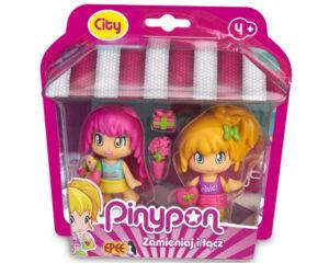 """Pinypon City – """"Na zakupach"""", 2-pack laleczek 7 cm z akcesoriami"""