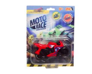 Moto Race – Kraksa na maxa – Motorek 8,5 cm na blistrze, 6 ass.