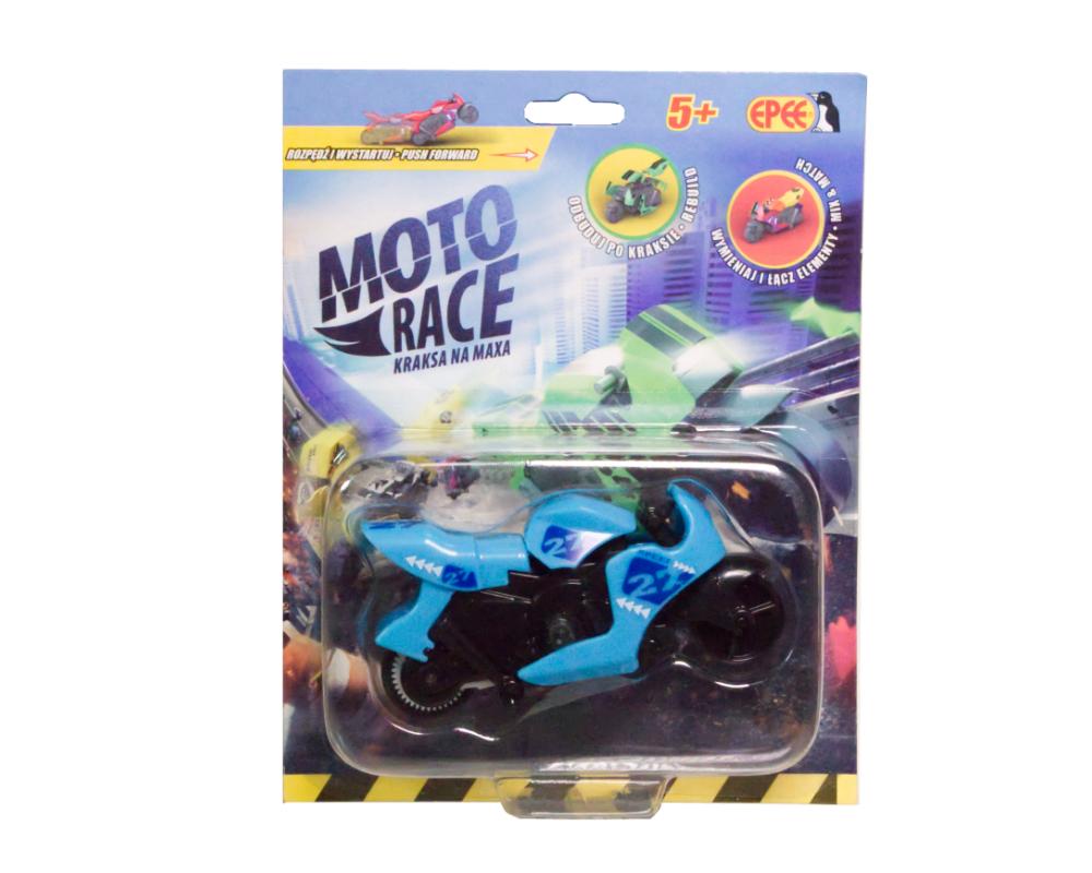 Moto Race – Kraksa na maxa – Motorek 8,5 cm na blistrze, 6 ass. - ep04112-moto-race-motor-w-blistrze-niebieski
