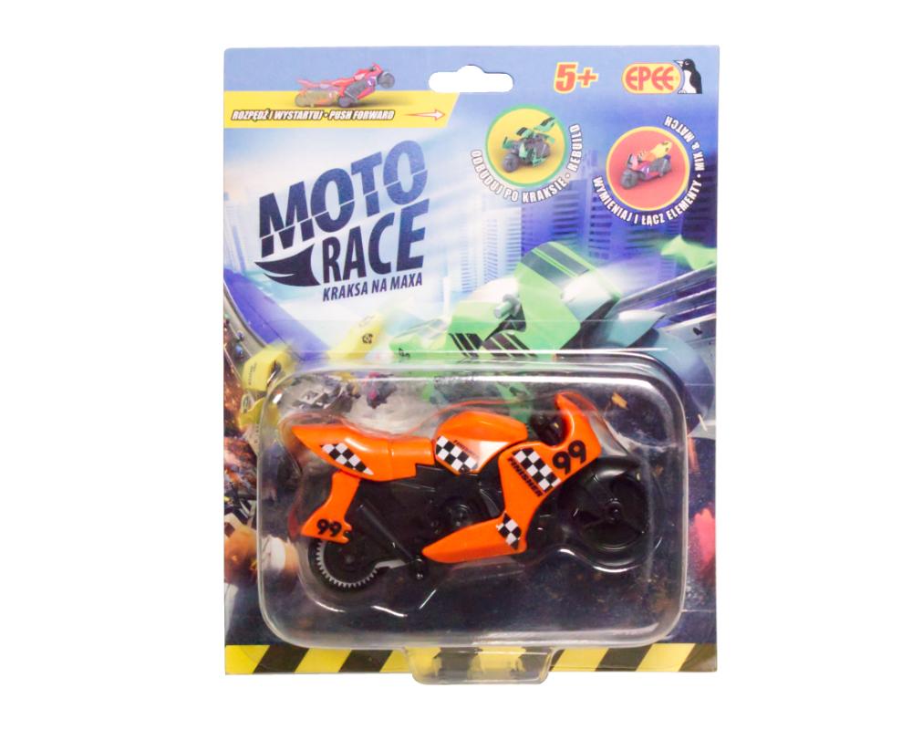 Moto Race – Kraksa na maxa – Motorek 8,5 cm na blistrze, 6 ass. - ep04112-moto-race-motor-w-blistrze-pomaranczowy