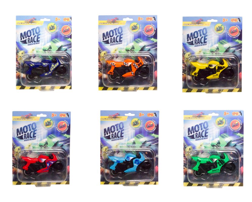 Moto Race – Kraksa na maxa – Motorek 8,5 cm na blistrze, 6 ass. - ep04112-moto-race-motor-w-blistrze-wszystkie