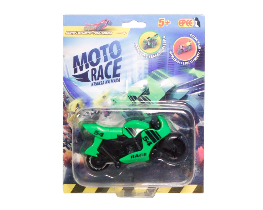 Moto Race – Kraksa na maxa – Motorek 8,5 cm na blistrze, 6 ass. - ep04112-moto-race-motor-w-blistrze-zielony