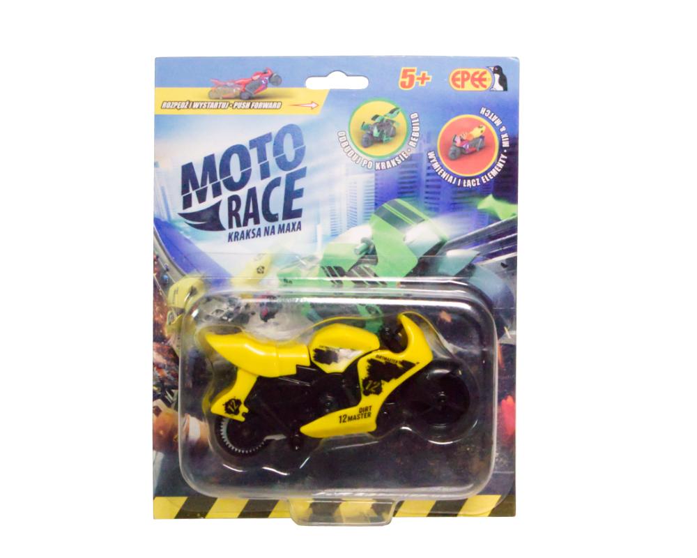 Moto Race – Kraksa na maxa – Motorek 8,5 cm na blistrze, 6 ass. - ep04112-moto-race-motor-w-blistrze-zolty