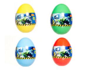 Moto Race – Kraksa na maksa – Motorek 6 cm w jajku, 4 ass.