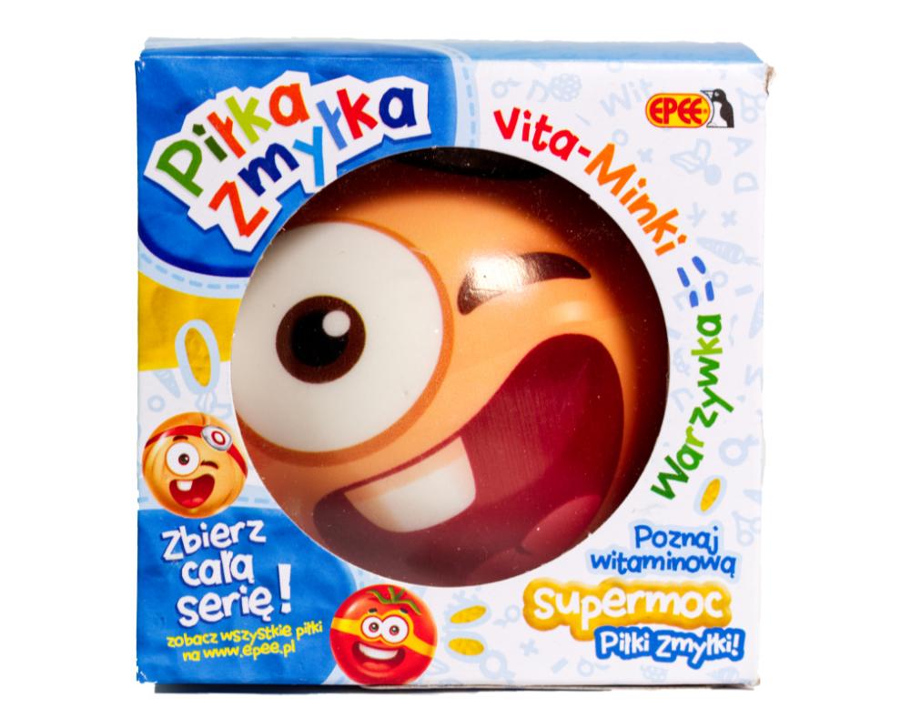 Piłka Zmyłka – Vita-Minki Warzywka, 6 ass. - pilka-zmylka-vita-minki-cebulka-w-opak-ep04061