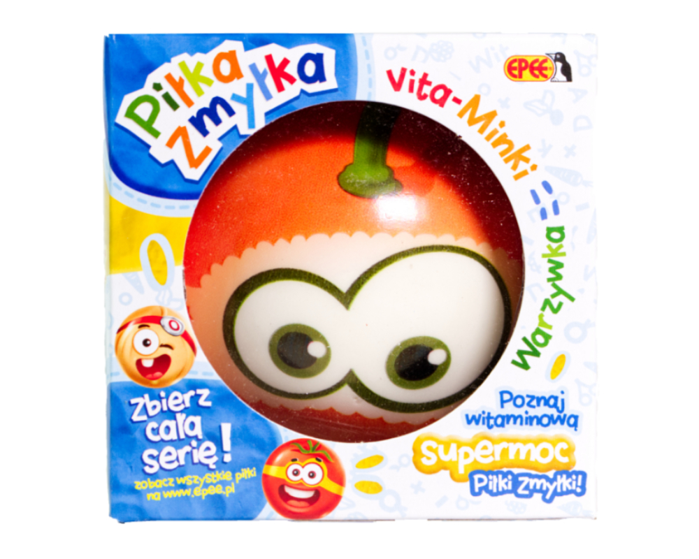 Piłka Zmyłka – Vita-Minki Warzywka, 6 ass. - pilka-zmylka-vita-minki-dynia-w-opak-ep04061