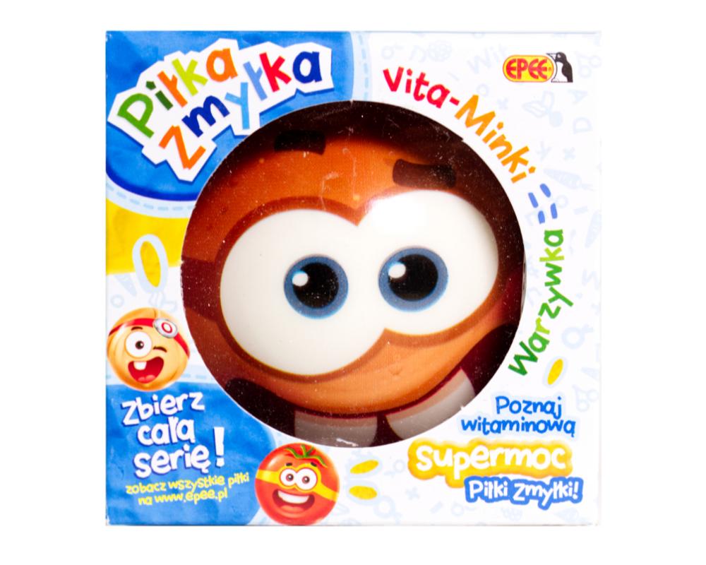 Piłka Zmyłka – Vita-Minki Warzywka, 6 ass. - pilka-zmylka-vita-minki-pyrka-w-opak-ep04061