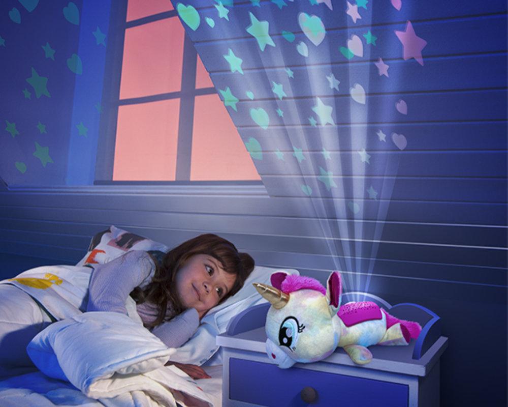 Luminki-Świecący Przyjaciele-Pluszowy projektor 25 cm, 2 ass. - luminki-pluszowy-projektor-zabawa-ep04133