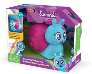 Luminki-Świecący Przyjaciele-Tęczowy Ślimaczek – projektor ze światłem i dźwiękiem